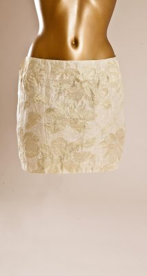 Pernilla Wahlgren Collection Flower Metallic Kjol Beige